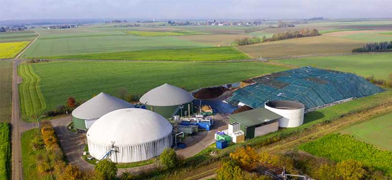 Biogasanlage und Blockheizkraftwerk am Standort Langenau
