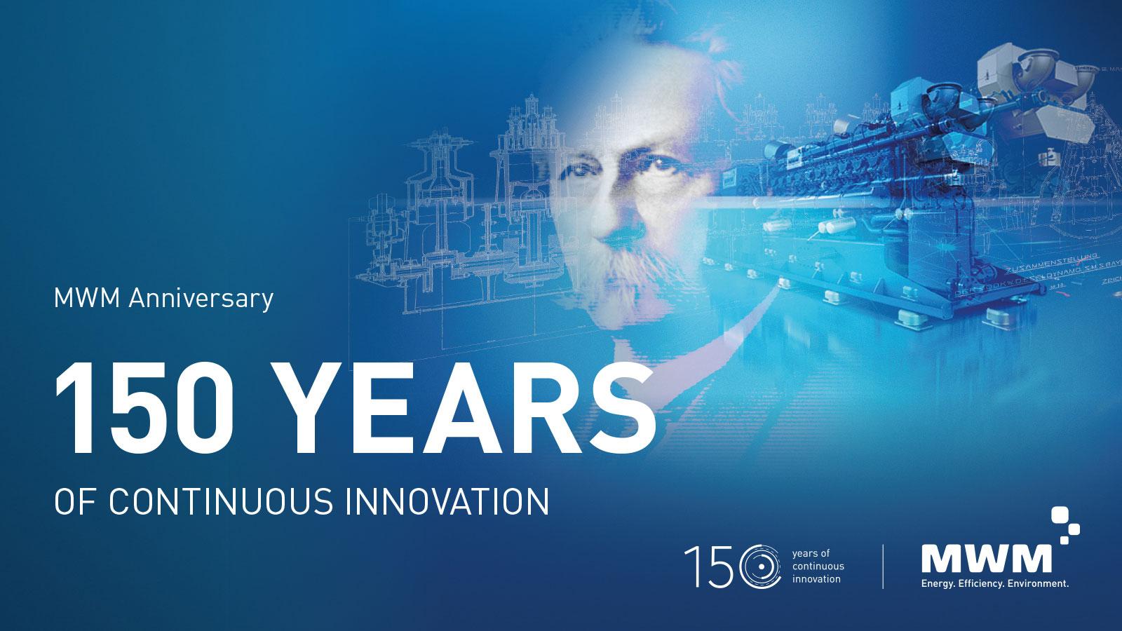 150 Jahre Innovation und Fortschritt in der dezentralen Energieerzeugung mit hocheffizienten Gasmotoren