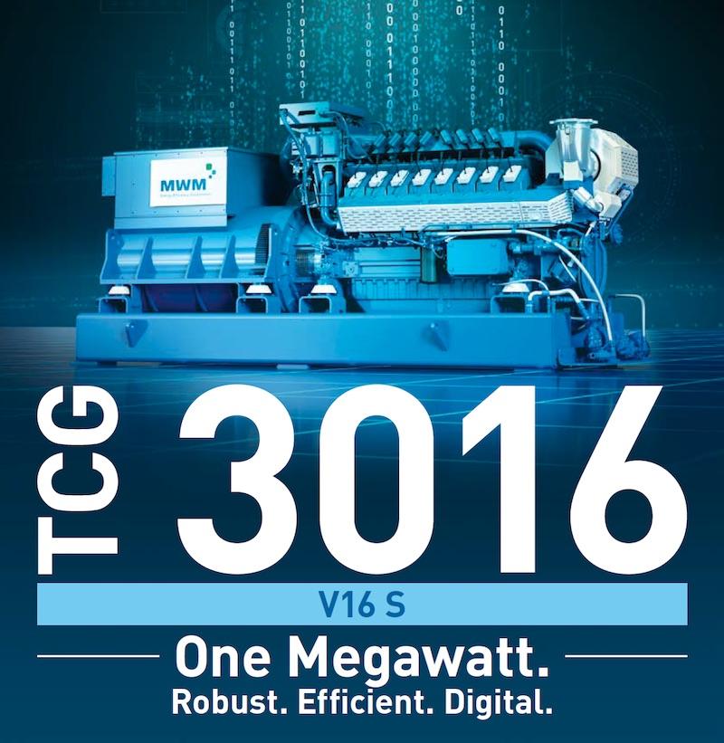 MWM Gas Engine TCG 3016 V16 S