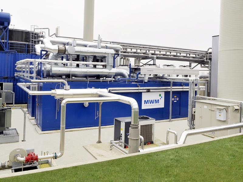 Biogasanlage Géotexia, Frankreich