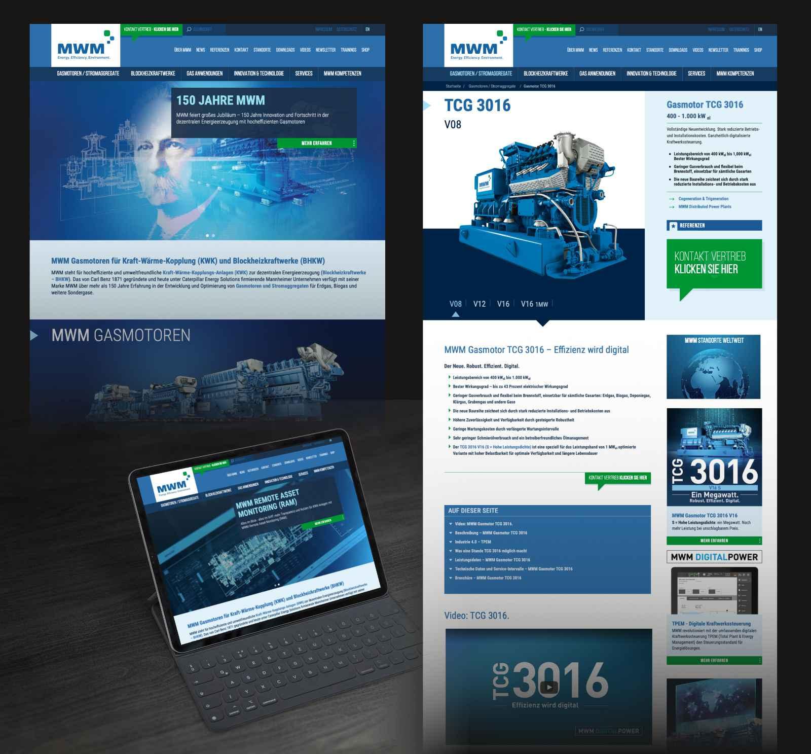 Design der neuen MWM Website