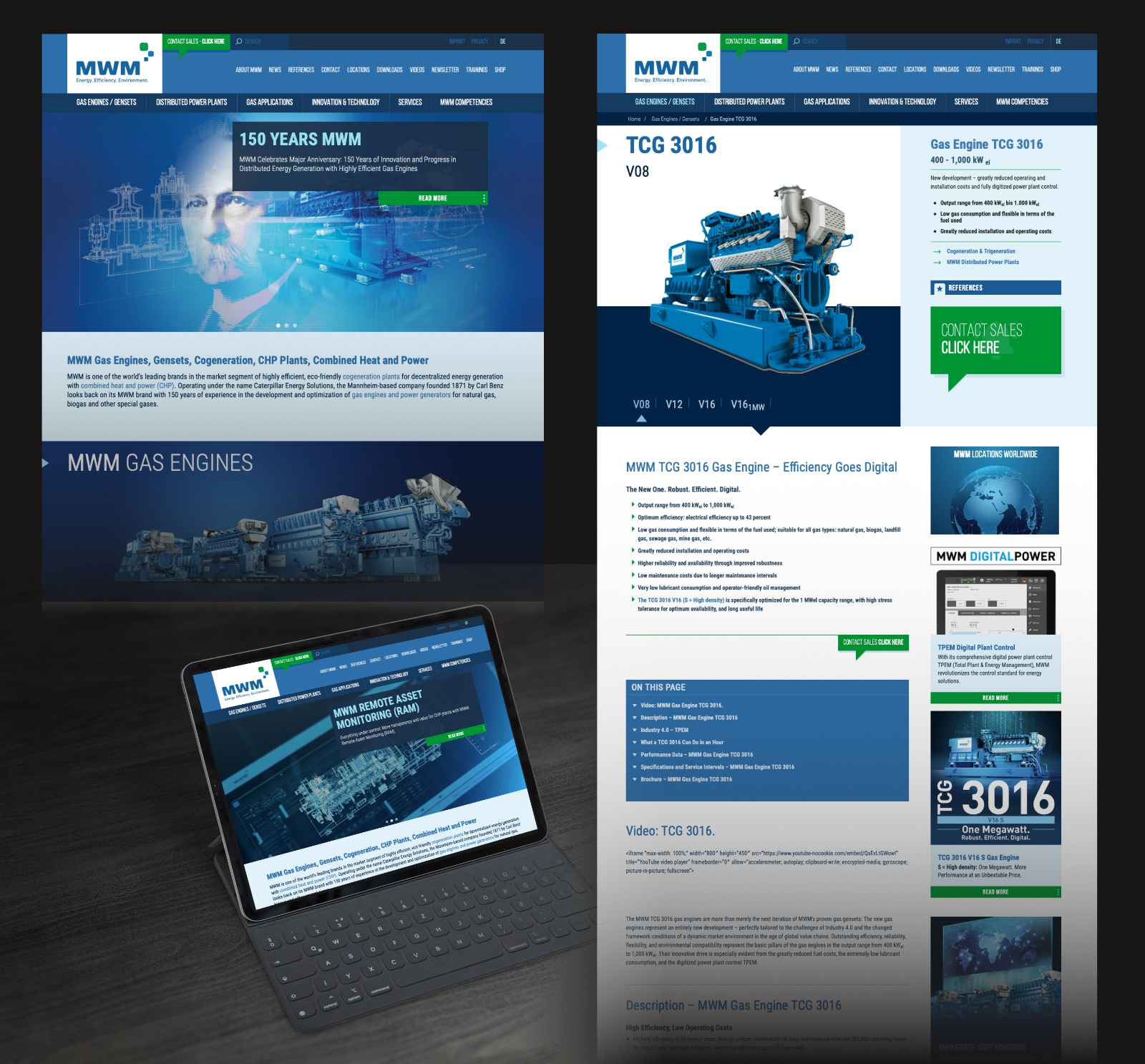 MWM Brand, MWM Gas Engines, New Website Look: Tradition, Innovation, and Continuity