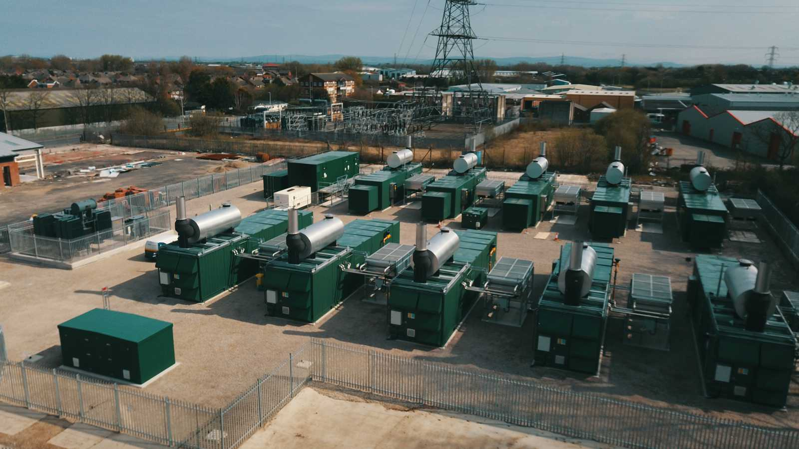 Containers with MWM gas engines on the premises of Bispham Flexible Generation