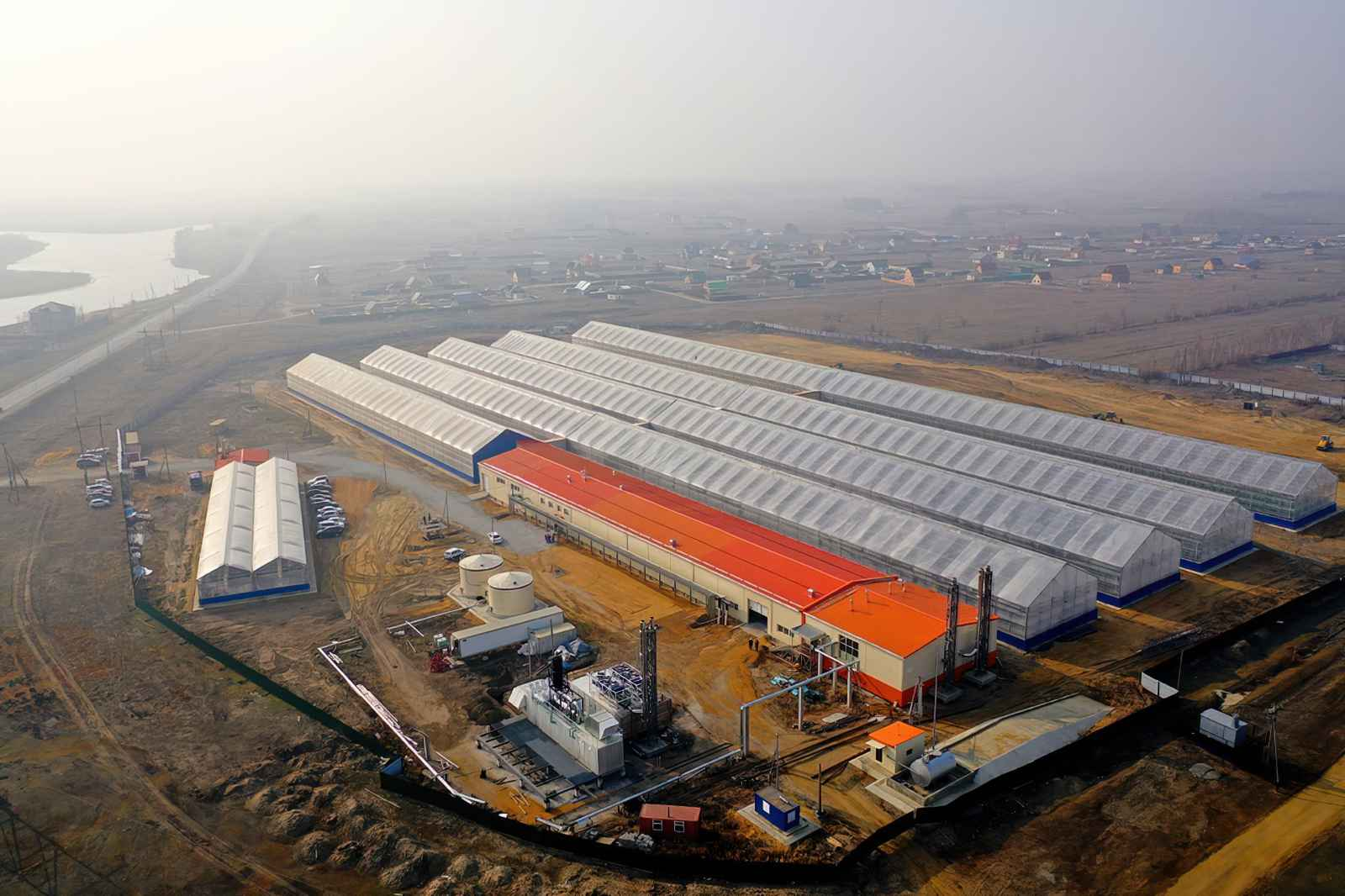 Sayuri greenhouse complex in Siberia Russian Federation